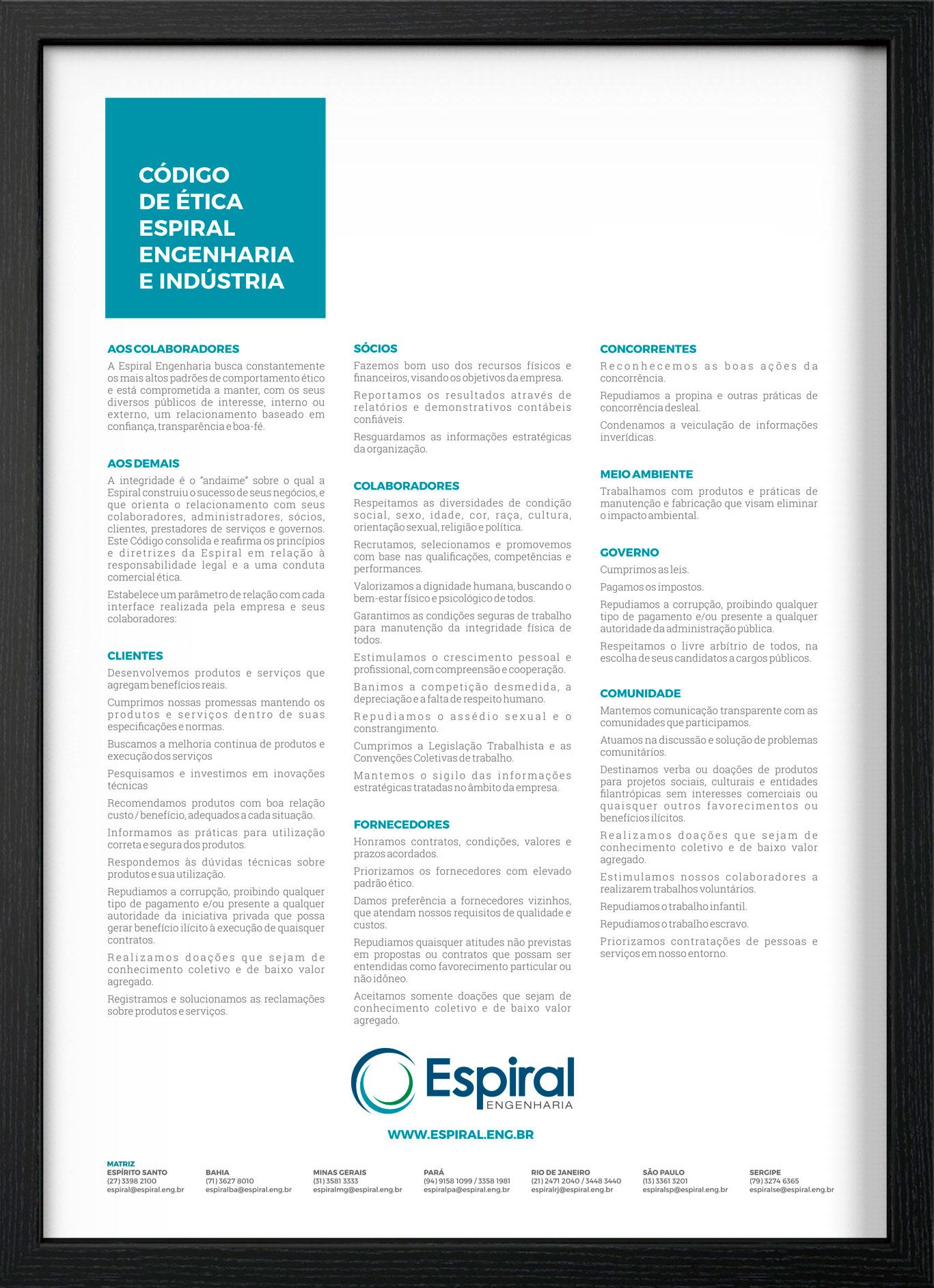 Código de Ética Espiral Engenharia