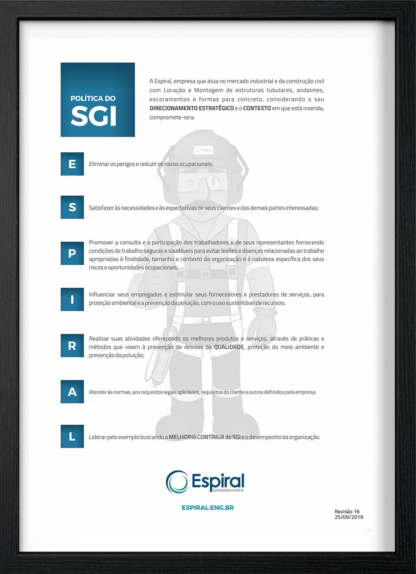 Política de SGI Espiral Engenharia