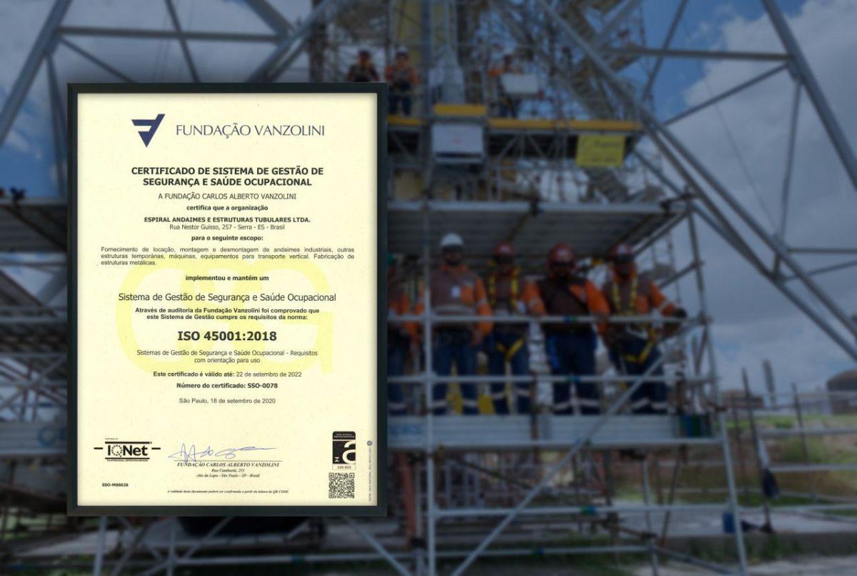 Espiral Engenharia conquista ISO 45001